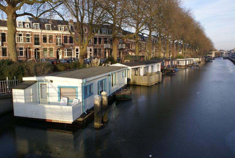Frozen canal, Utrecht