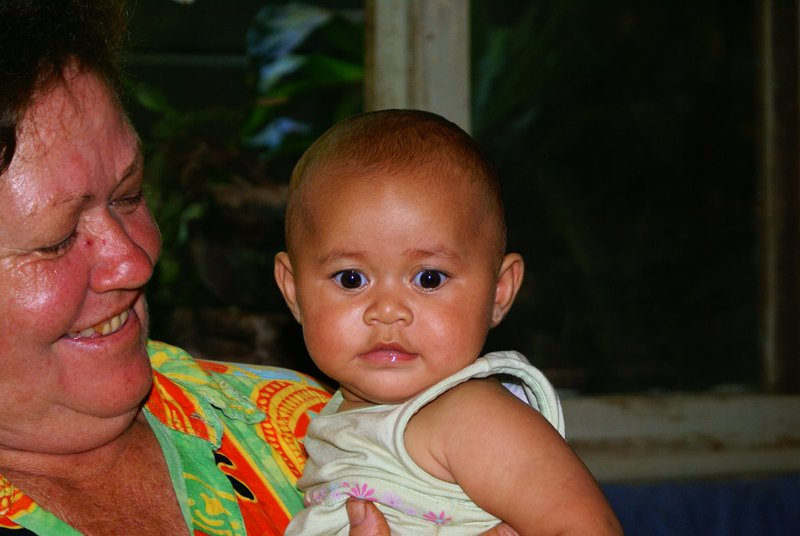 Pitcairn's youngest inhabitant at 4 months old