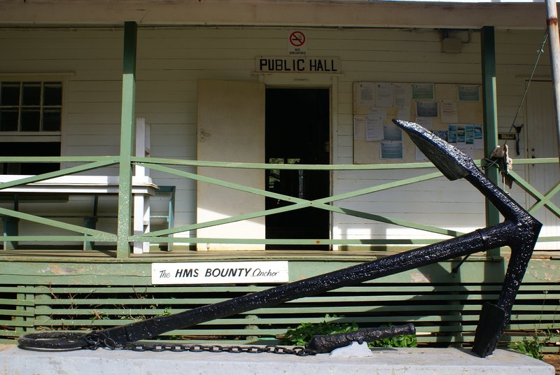 Bounty Anchor in front of the Public Hall