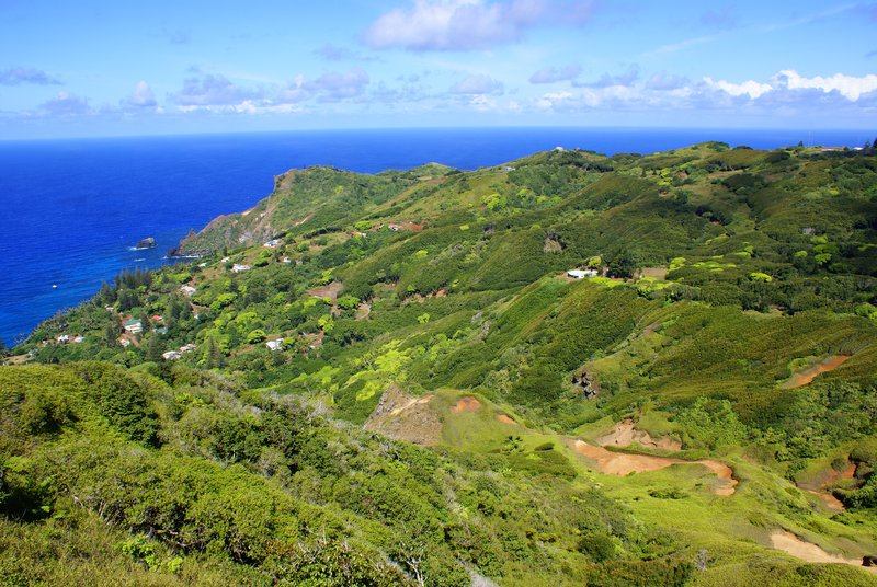 View of Pitcairn from Garnet's Point