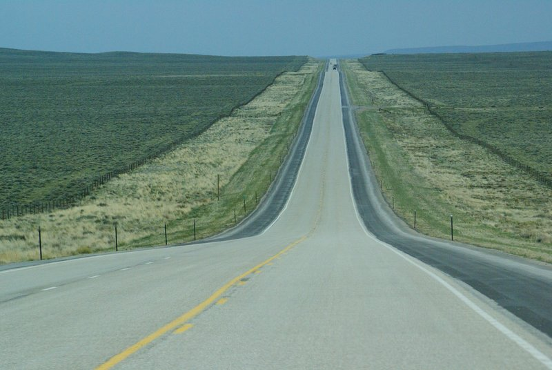 Wyoming's lonely roads Photo by Utrecht
