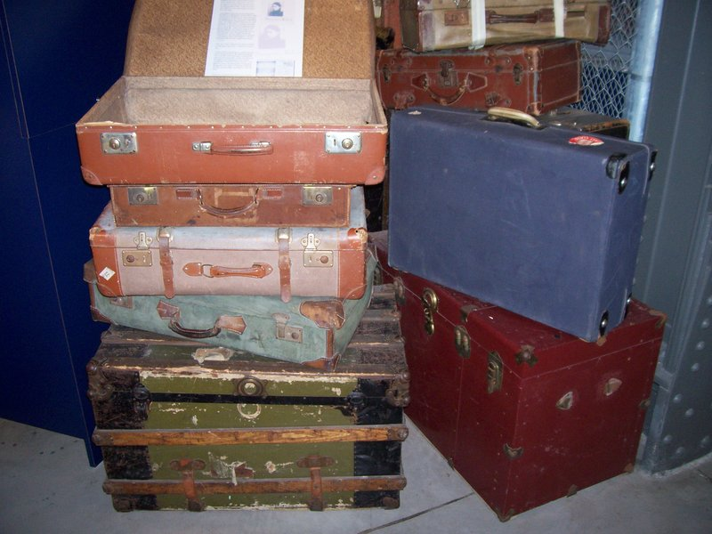 Old suitcases, Pier 21 museum, Halifax