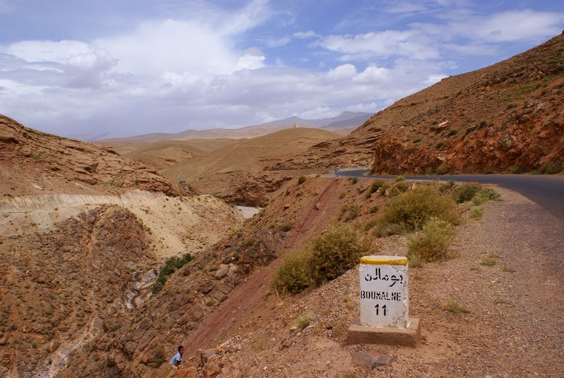 Road across Dades Gorge towards Boumalne