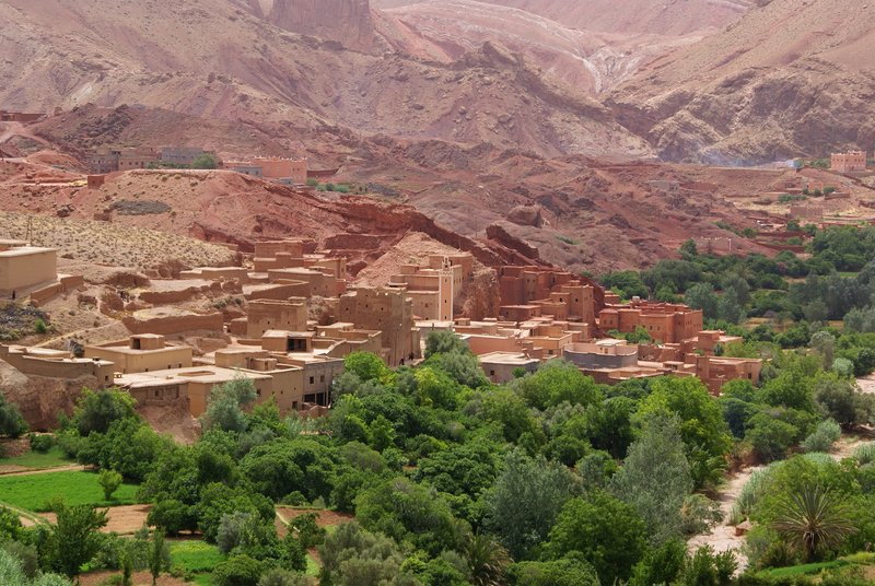 Dades Gorge village