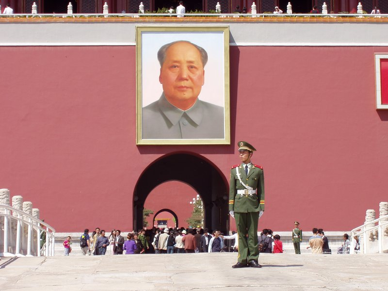 Mao is still watching the Forbidden City