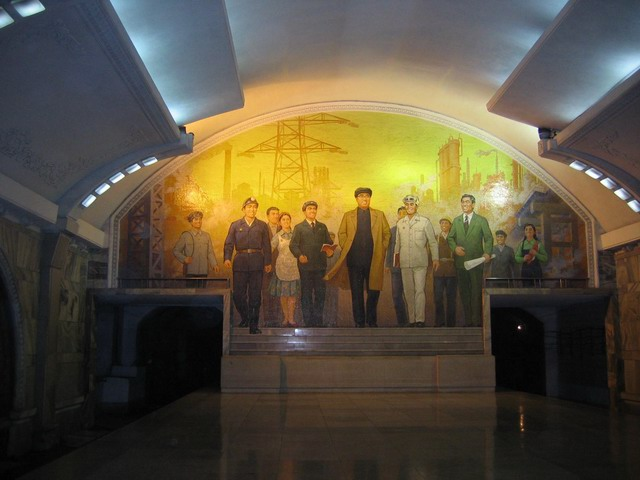 Amazing decoration in the Pyongyang subway