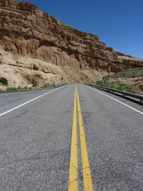 Road through Capitol Reef National Park, Utah