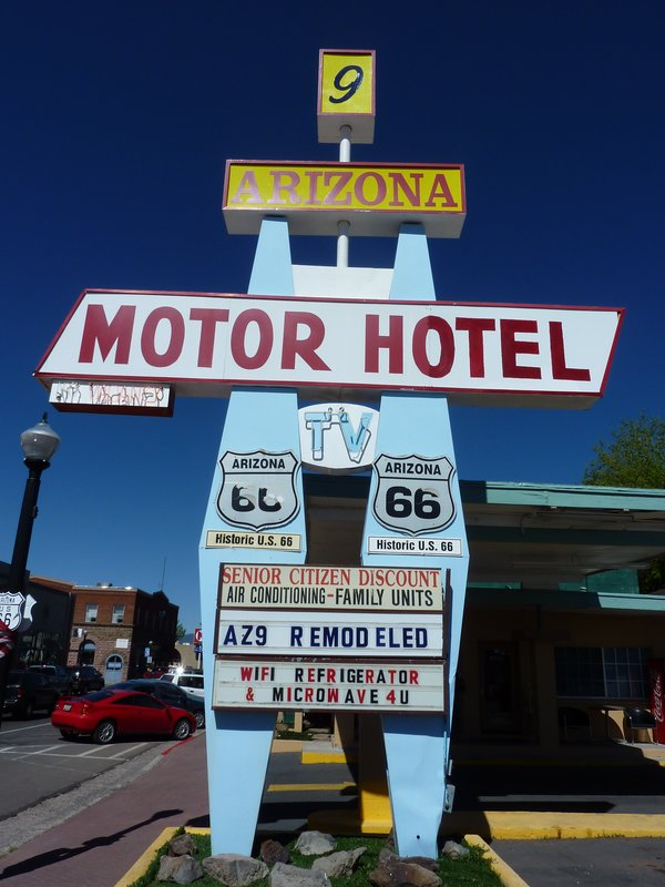 Old motel sign, Williams, Arizona