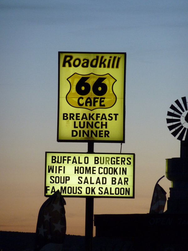 You kill it, we grill it! Famous Roadkill 66 Cafe, Seligmans, Arizona