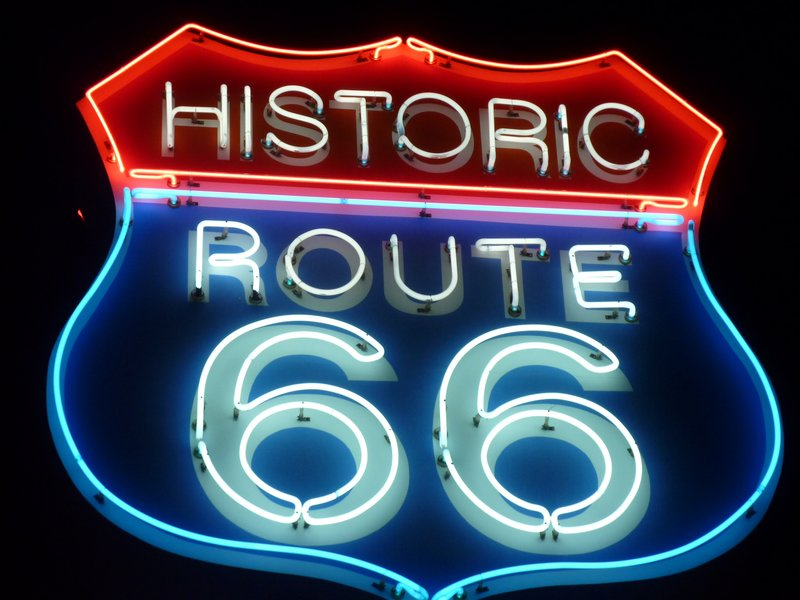 Vintage neon sign, Seligman, Arizona