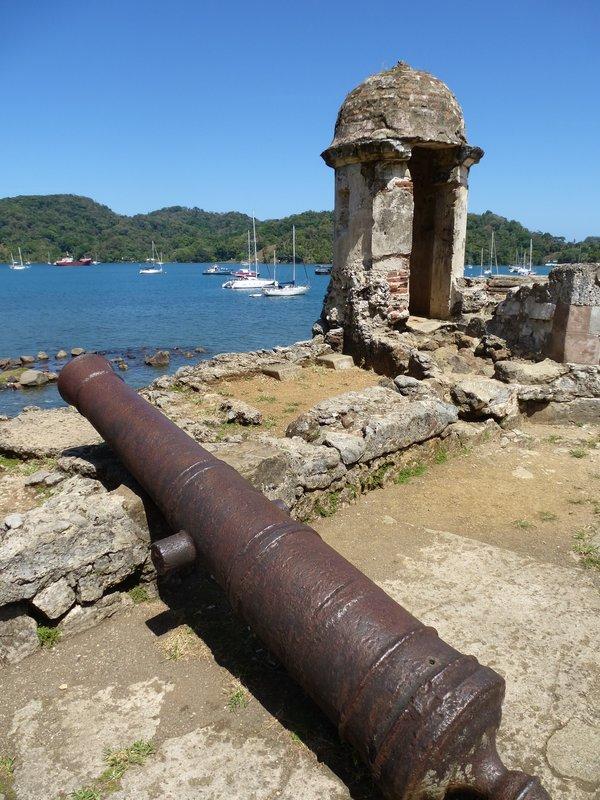 Canons near Portobelo
