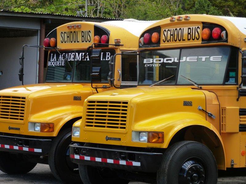 Old American School Buses