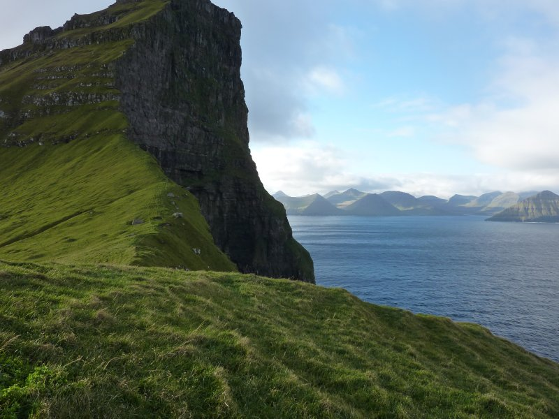 View towards northern Eysturoy from Kallur lighthouse, Kalsoy