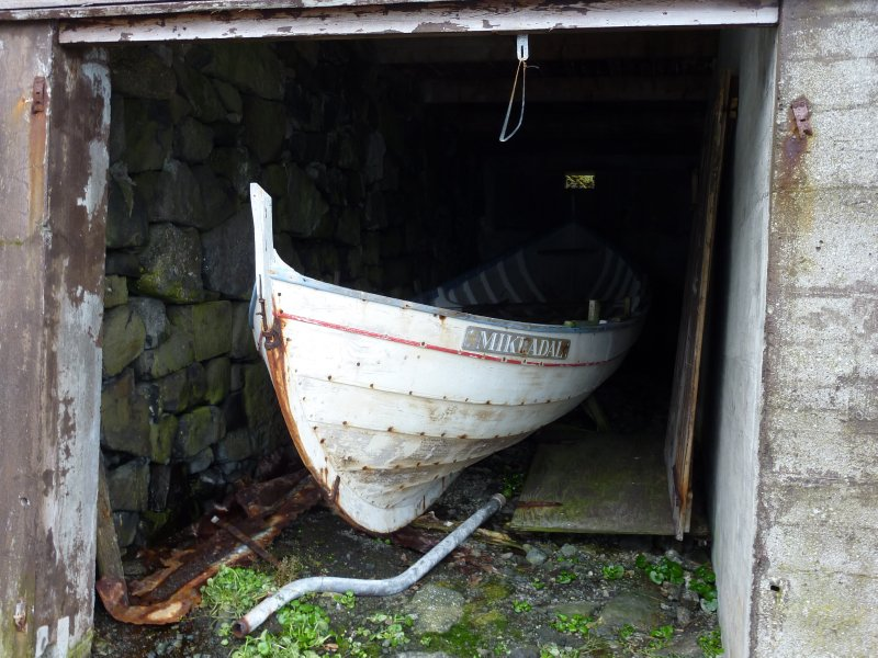 Boat in Mikladalur, Kalsoy