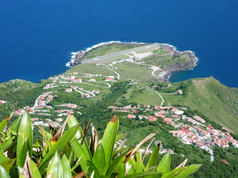 View of Saba's Airport