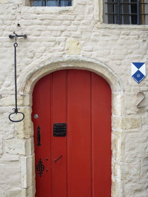 Colourful front door