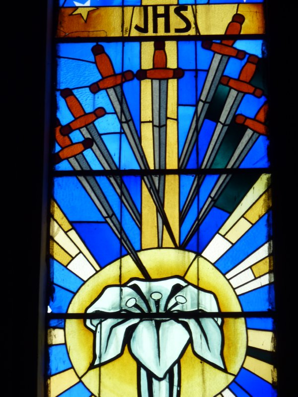 Cathedral window details, Canela