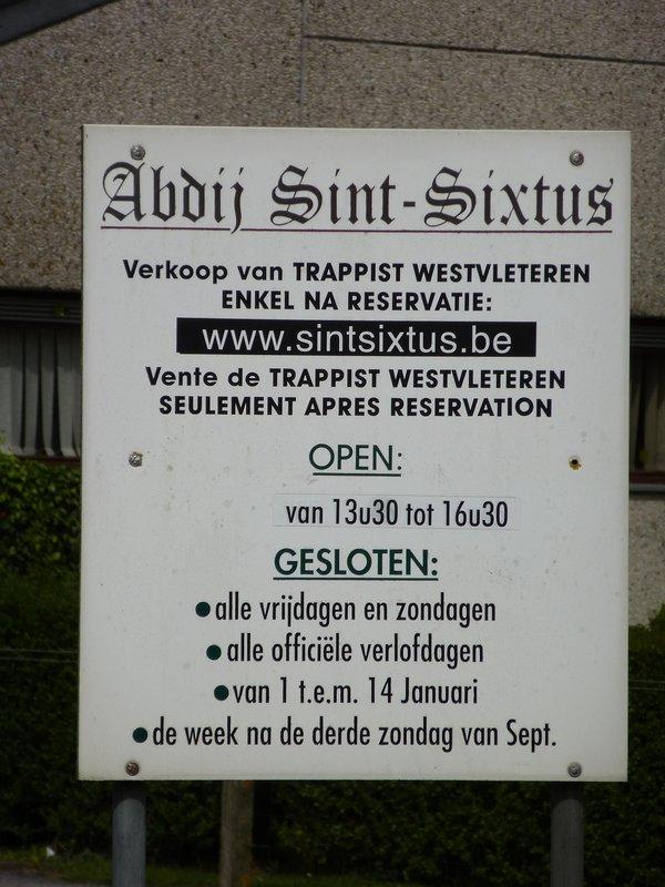 Sint Sixtus Abbey Rules