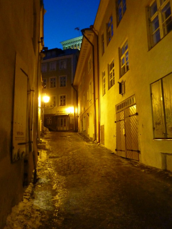 Medieval Tallinn by night