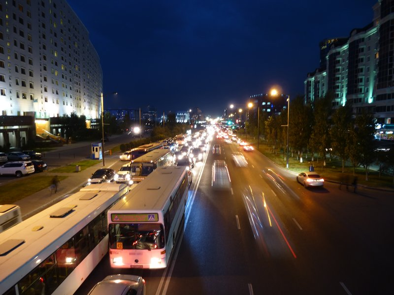Astana Roads By Night
