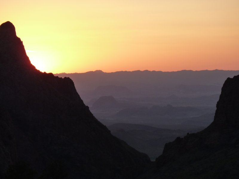 Sunset in Big Bend National Park, Texas