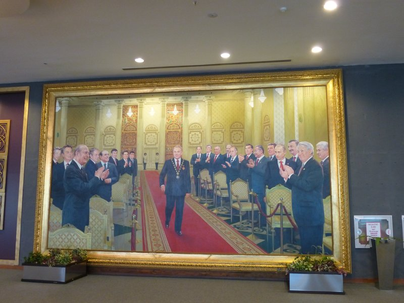 Nazarbayev and his friends, Palace of Independence