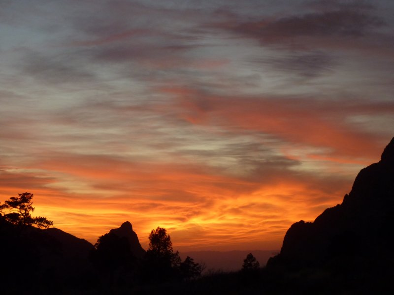 Great sunset in Big Bend NP, Texas