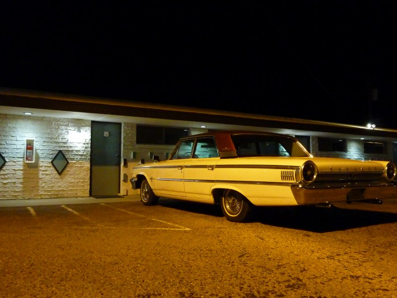 Vintage motel and car, Tucumcari, New Mexico