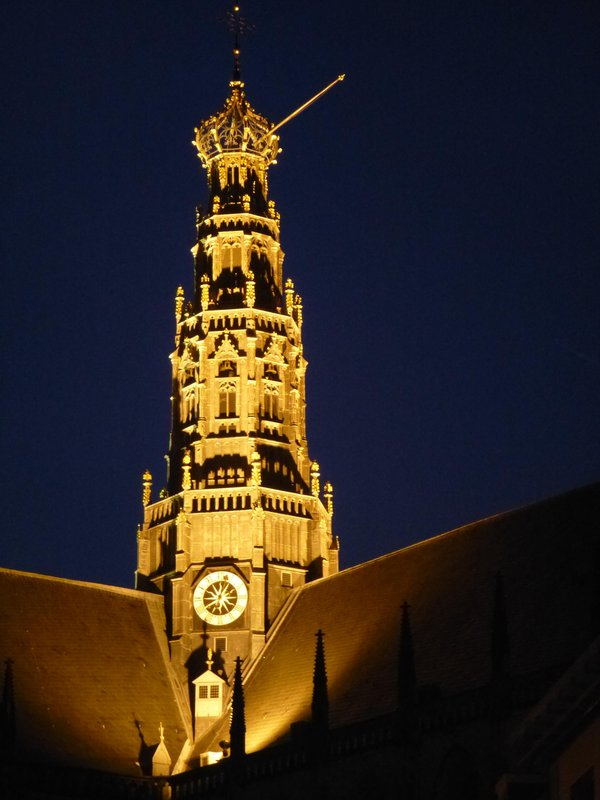 Church Tower By Night
