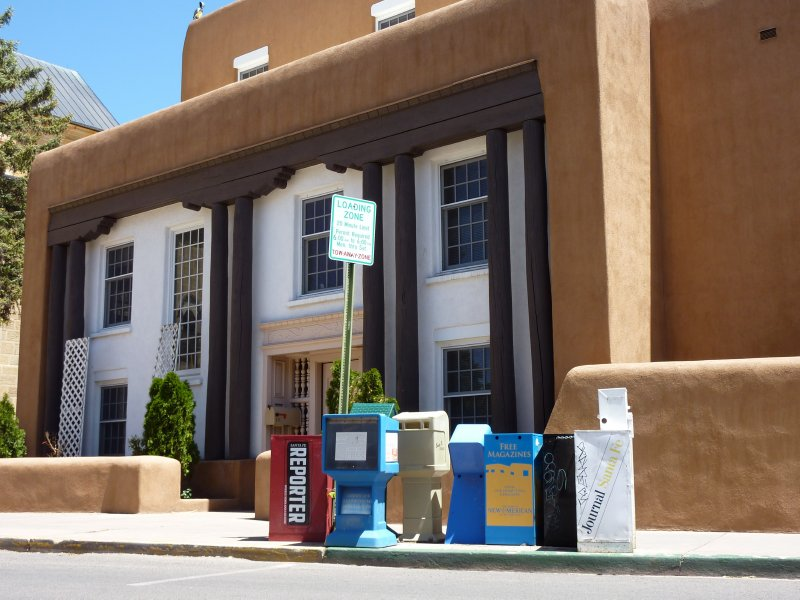 Newspaper boxes, Santa Fe, New Mexico
