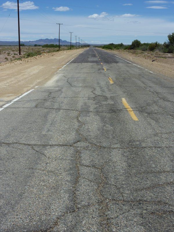 The worst section of Route 66 between Ludlow and Newberry Springs