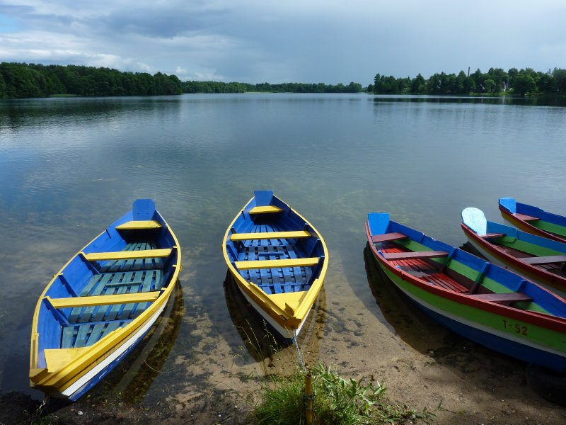 Rowing boats, Trakai