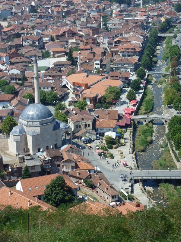 Prizren as seen from the Fortress
