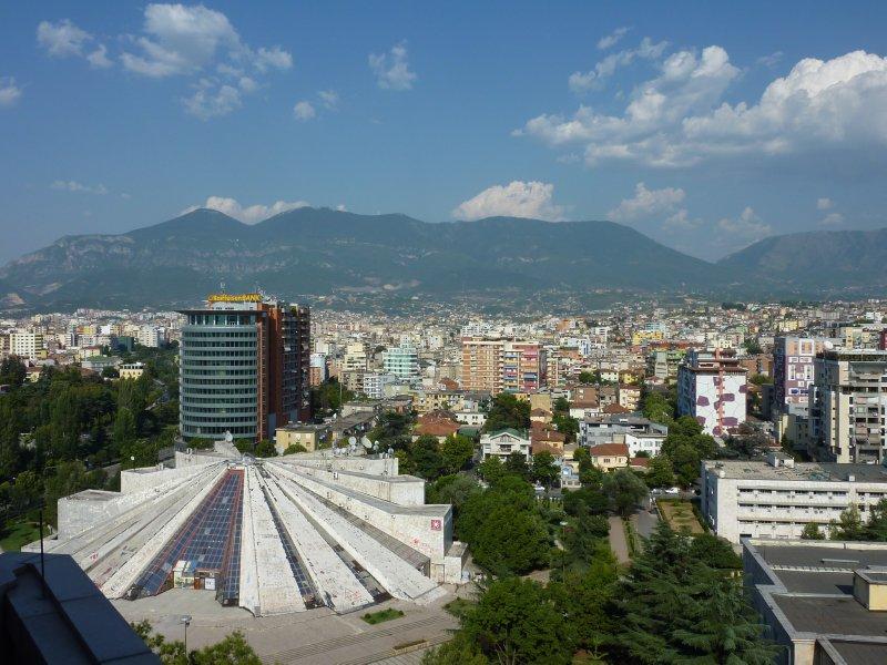 Skyline of Tirana
