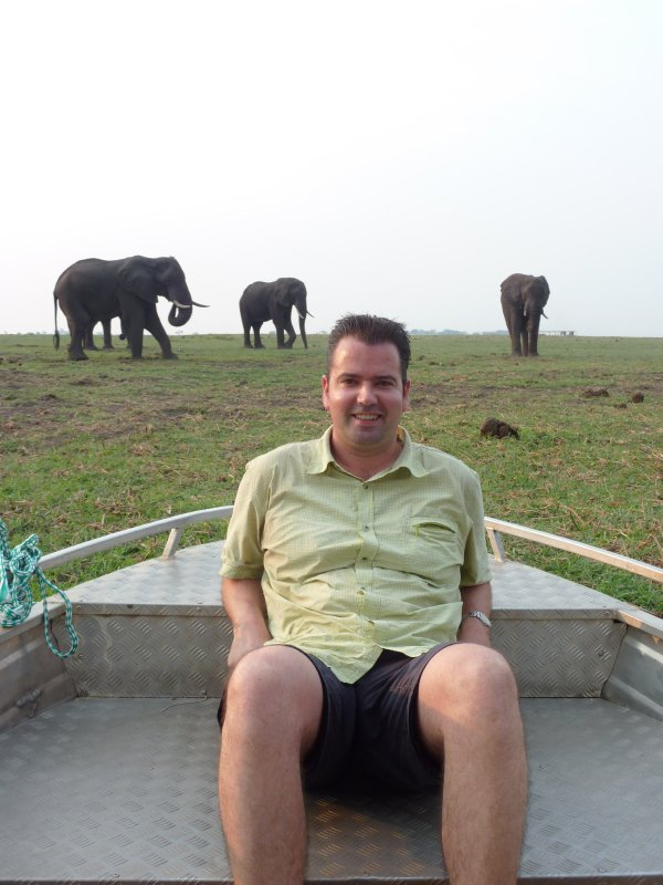 Me and the Elephants of Chobe