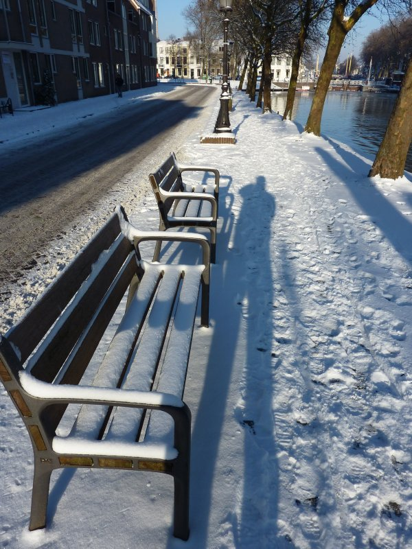 My shadow in the snow, Utrecht