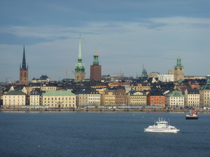 Leaving Stockholm by ferry