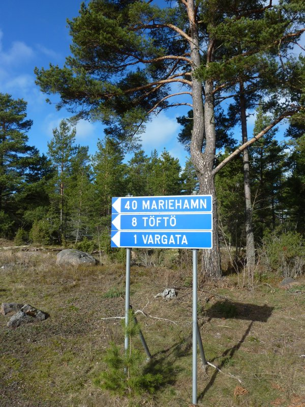 About as far as you can get from Mariehamn by road only