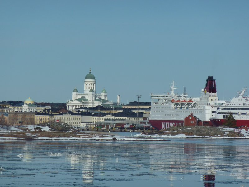 Helsinki harbour view
