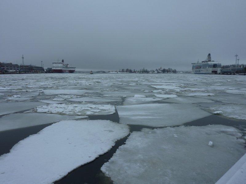 Helsinki's frozen harbour