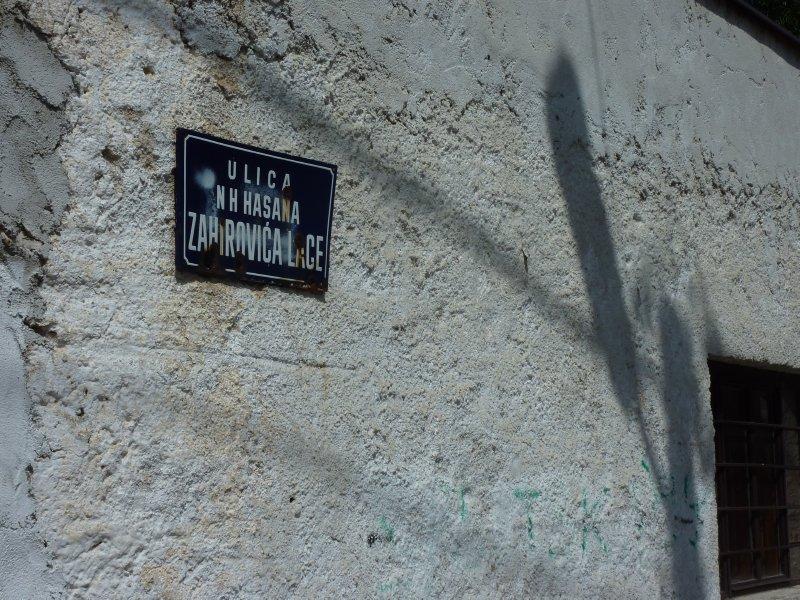 Street sign, Mostar