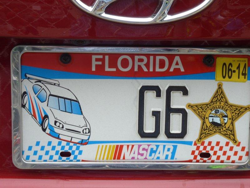 Nascar License Plate
