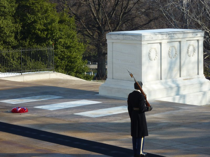 Guard at Tomb of the Unknown Soldier, Arlington Cemetery