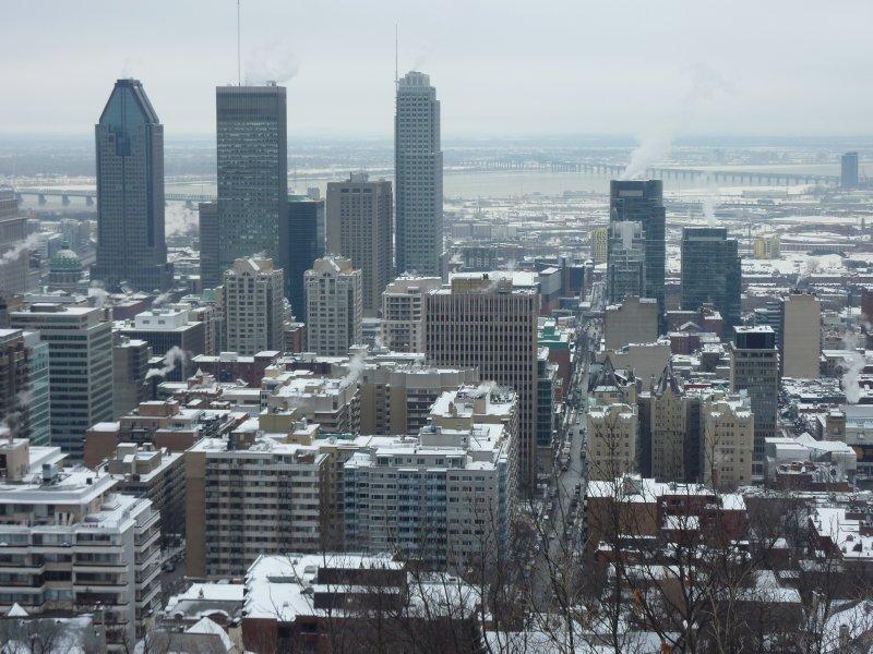 Skyline of Montréal