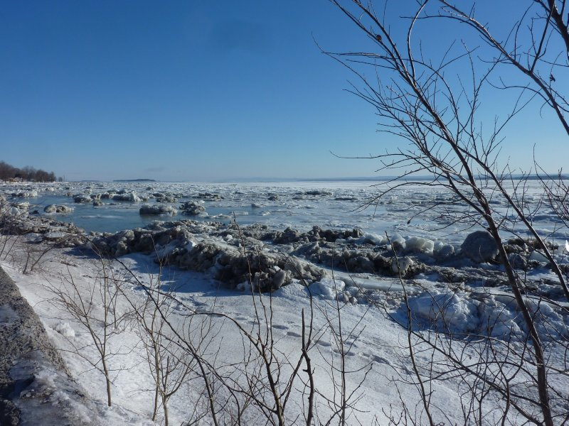 The icy St. Lawrence River