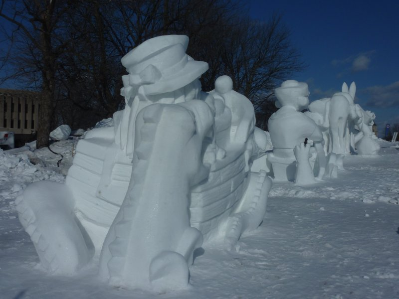 Snow sculpture at winter carnival