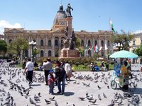 Weekend on Plaza Pedro Murillo, La Paz