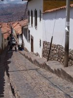 Cuzco's steep cobbled streets