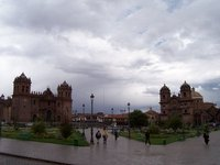Rainy Plaza de Armas, Cuzco