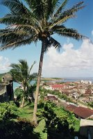 View over Baracoa, east Cuba